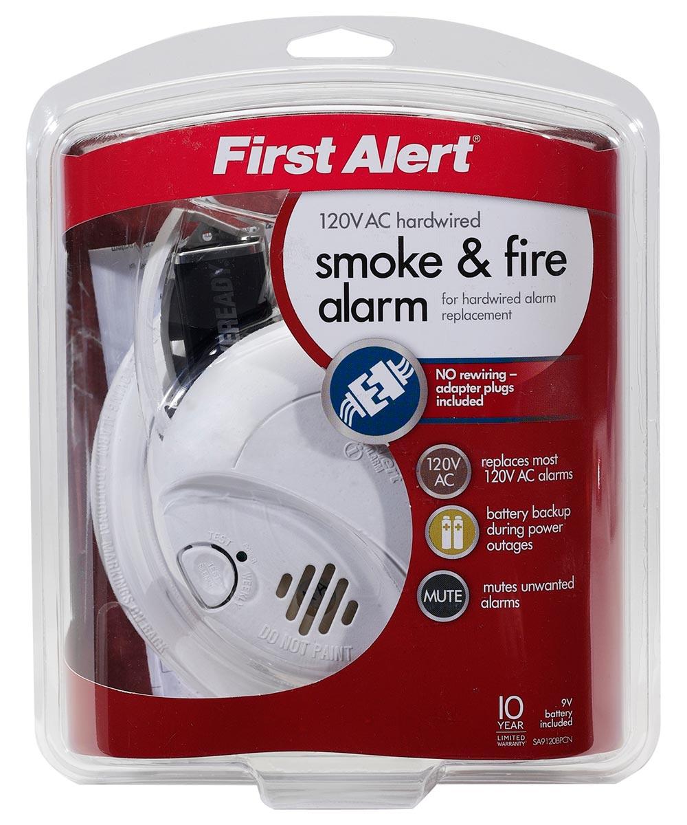120V AC Smoke Alarm with Battery Backup