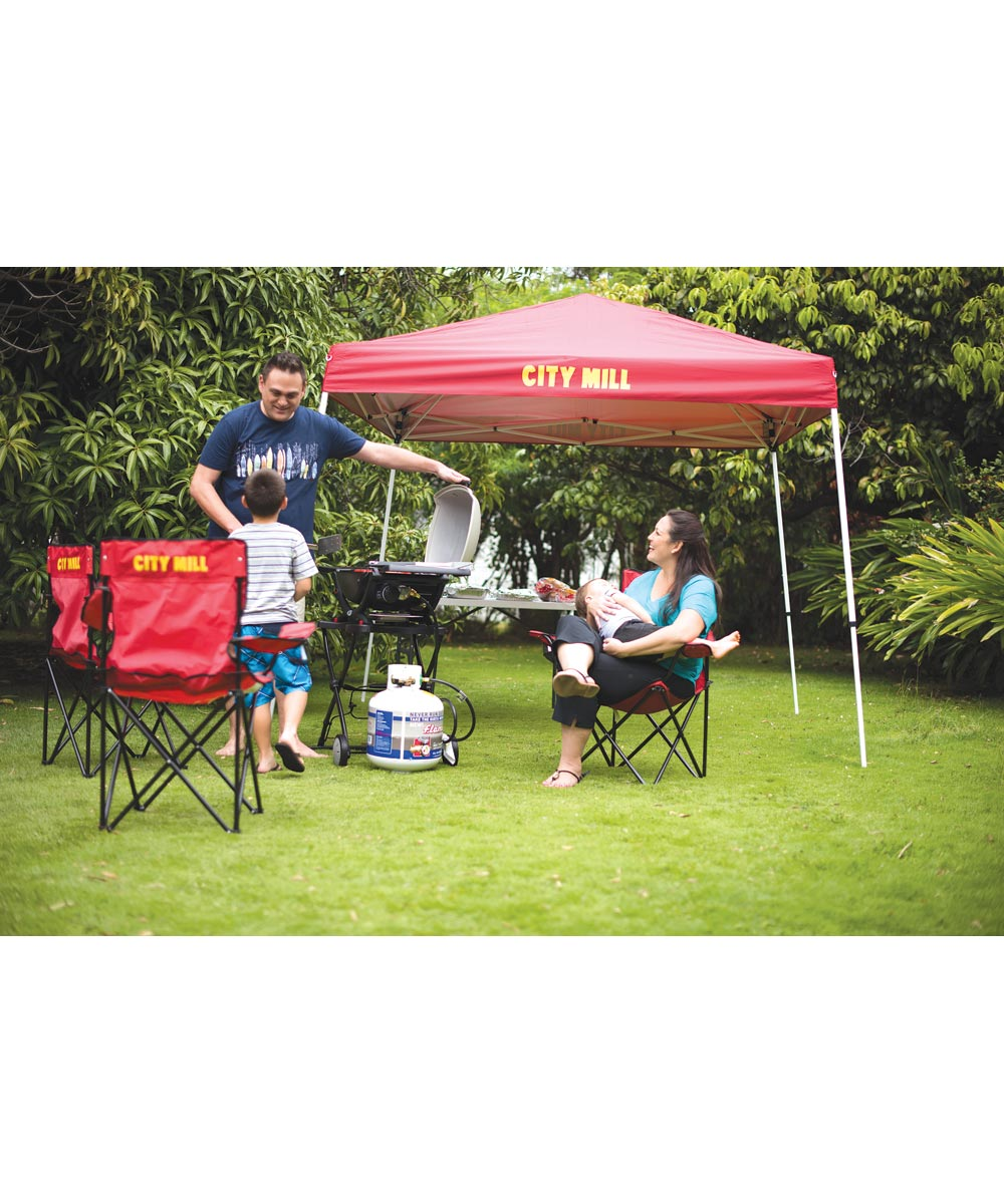 City Mill 8x8 ft. Weekender Instant Canopy Pop-Up Tent, Red