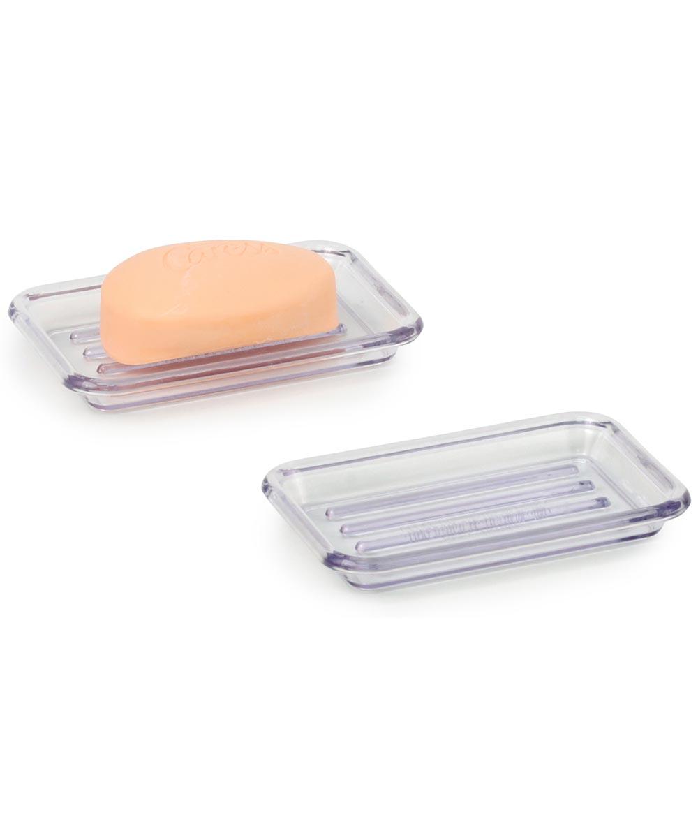 Clear Rectangular Soap Dish