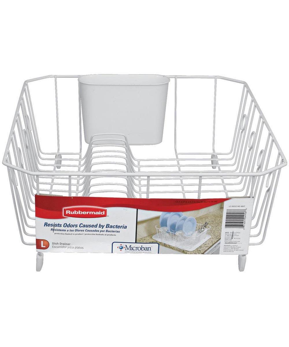 Large White Dish Drainer