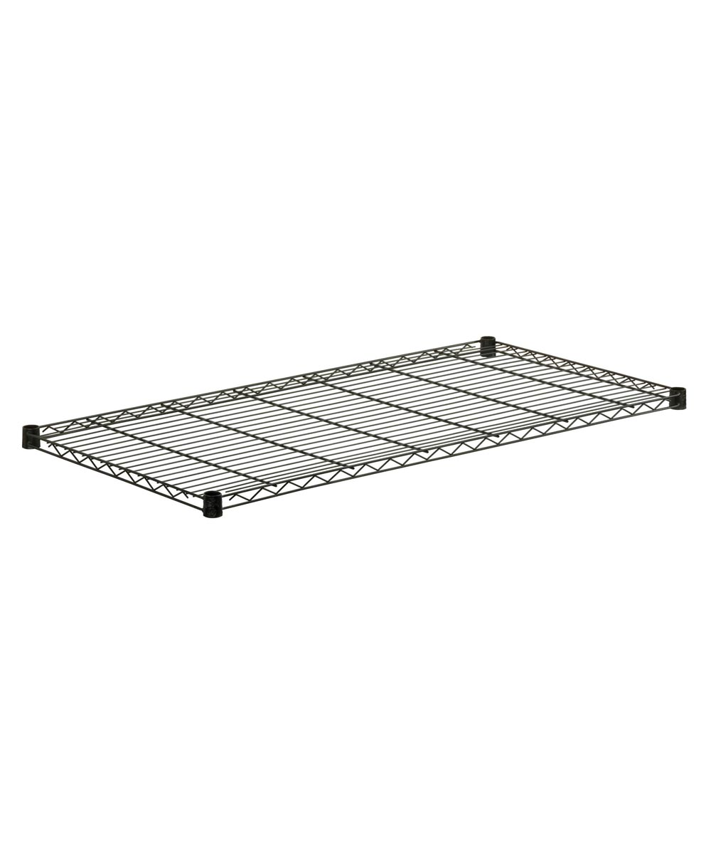 18x36 Inch Black Steel Shelf