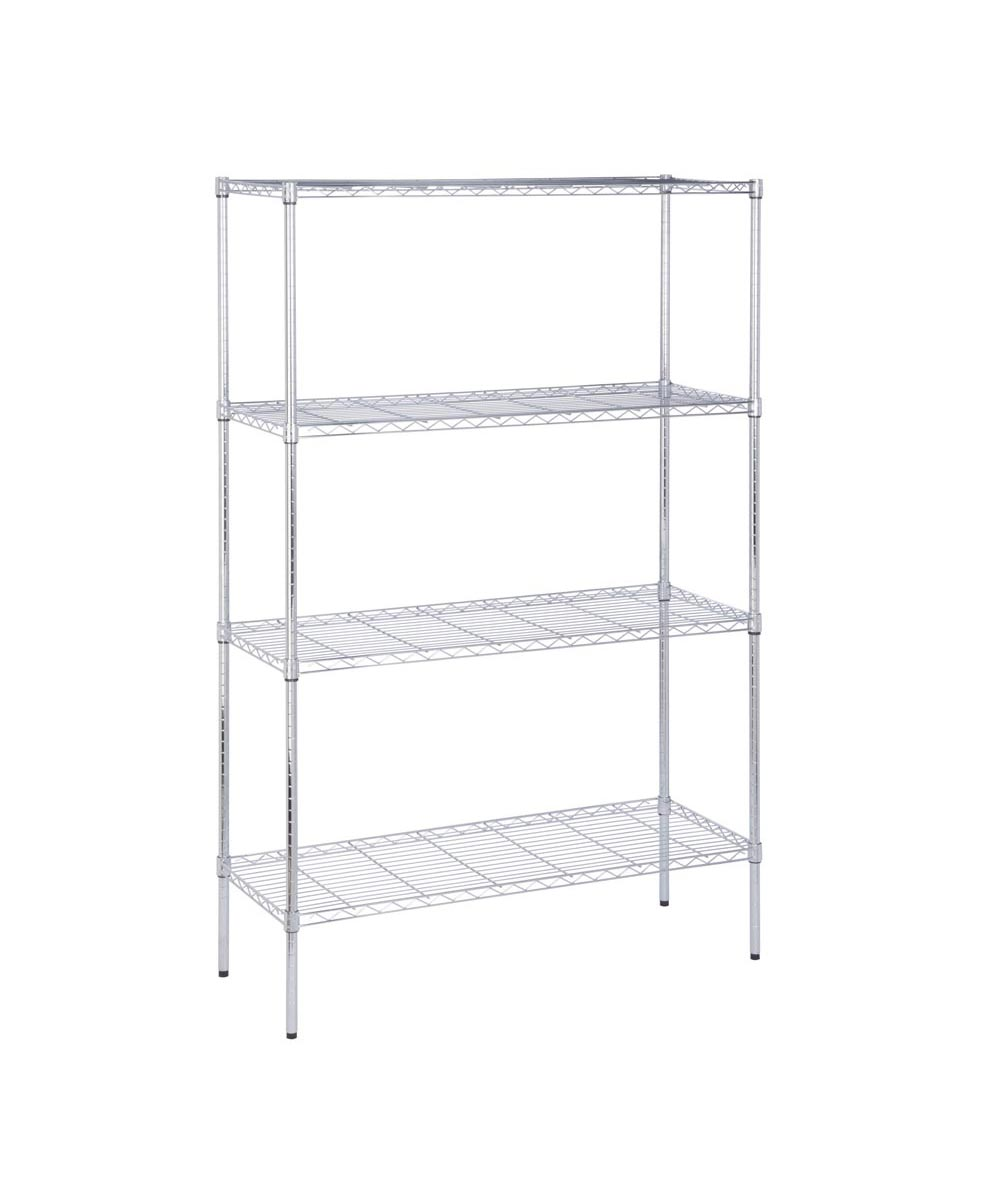 4-Tier Chrome Shelf Unit, 18x48x72 Inches