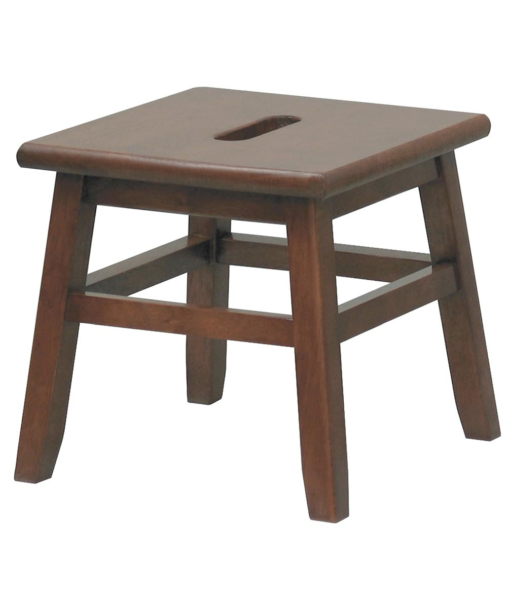 12 in. Walnut Conductor Foot Stool