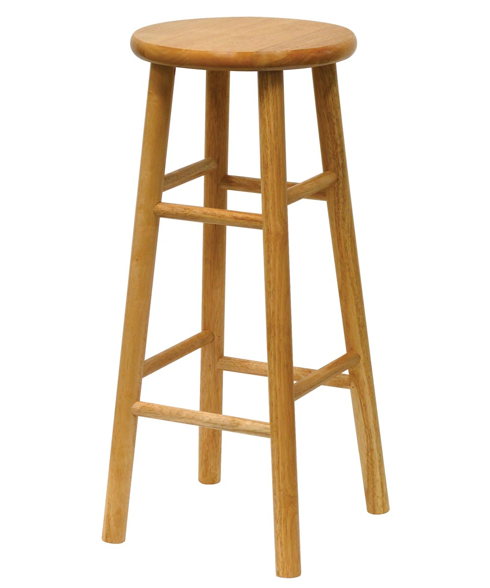 30 in. Natural Beveled Seat Bar Stool