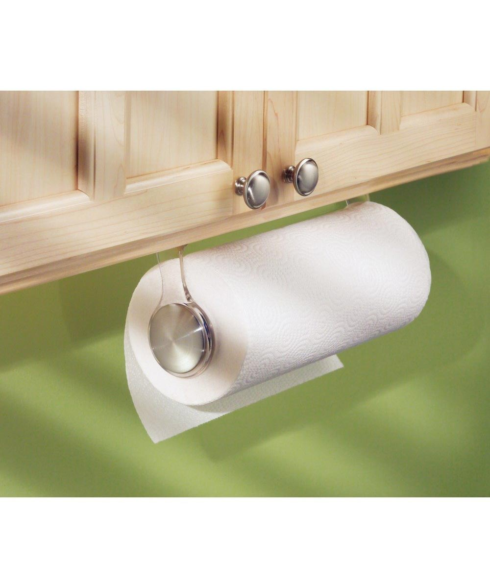 Forma Stainless Steel & Plastic Paper Towel Holder, Wall Mount or Under Cabinet
