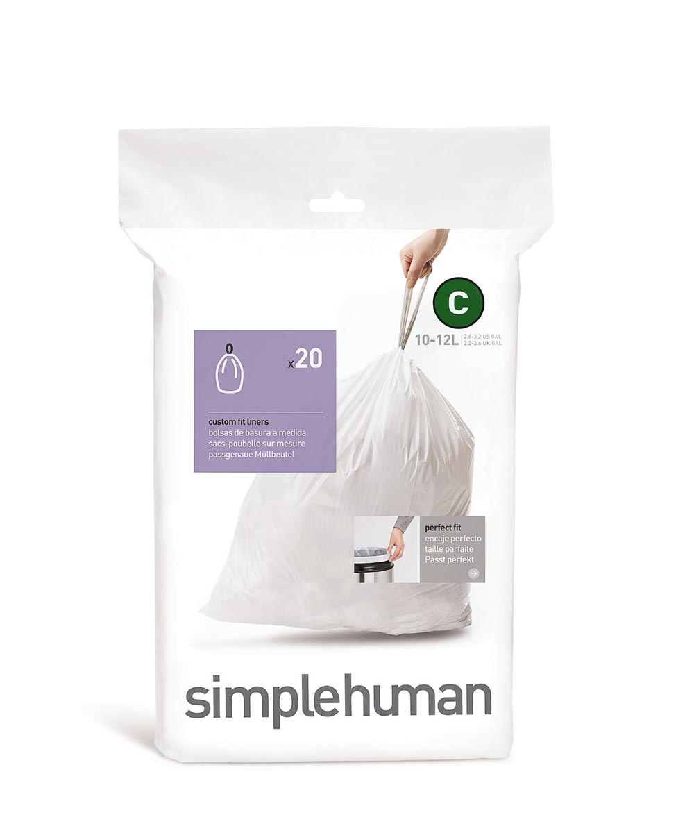 Code C Trash Liner, 10-12 Liters/2.6-3.2 Gallons, 20 Liners
