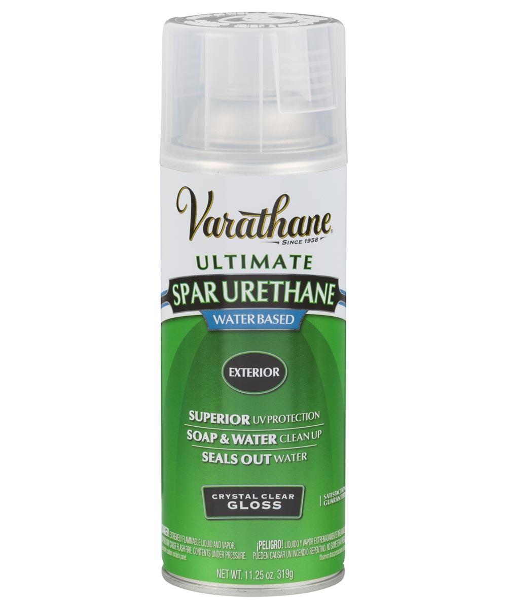 Varathane Ultimate Spar Urethane Exterior Water Based Spray Paint, 11.25 oz., Crystal Clear Gloss