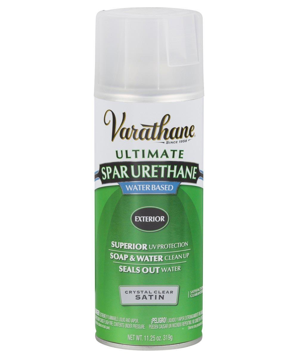 Varathane Ultimate Spar Urethane Exterior Water Based Spray Paint, 11.25 oz., Crystal Clear Satin