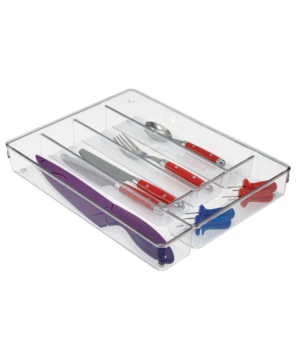 Linus Kitchen Cutlery Drawer Organizer, Clear