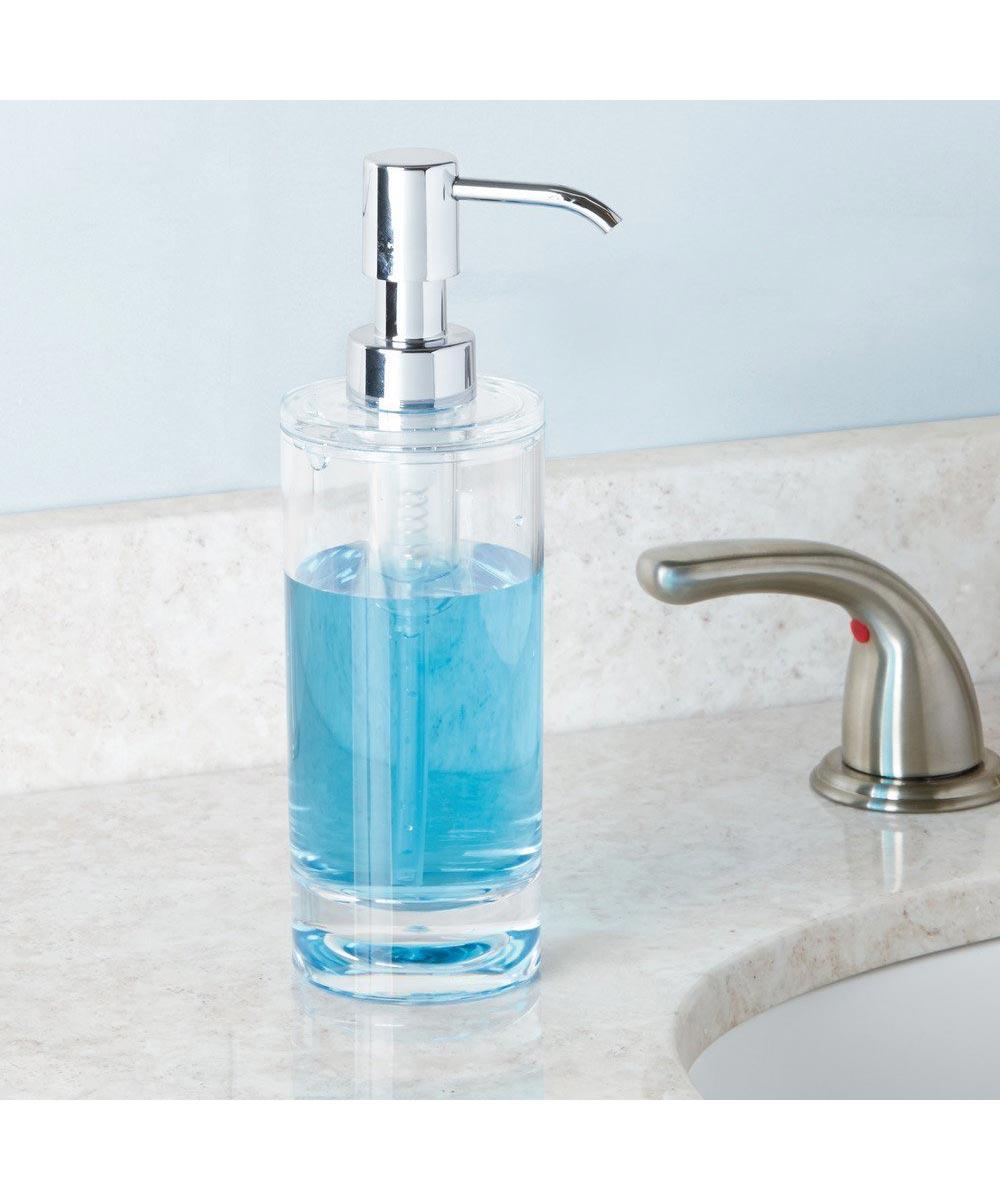 Eva Acrylic Soap & Lotion Dispenser Pump, Clear