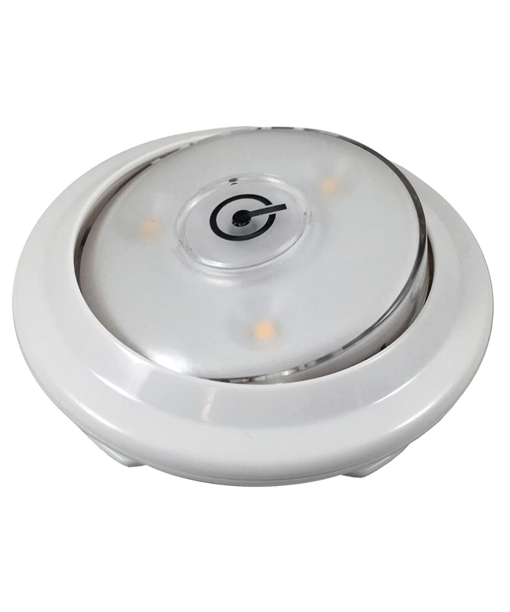 3.5 in. x 1.25 in. White Wireless LED Swivel Accent Puck Light