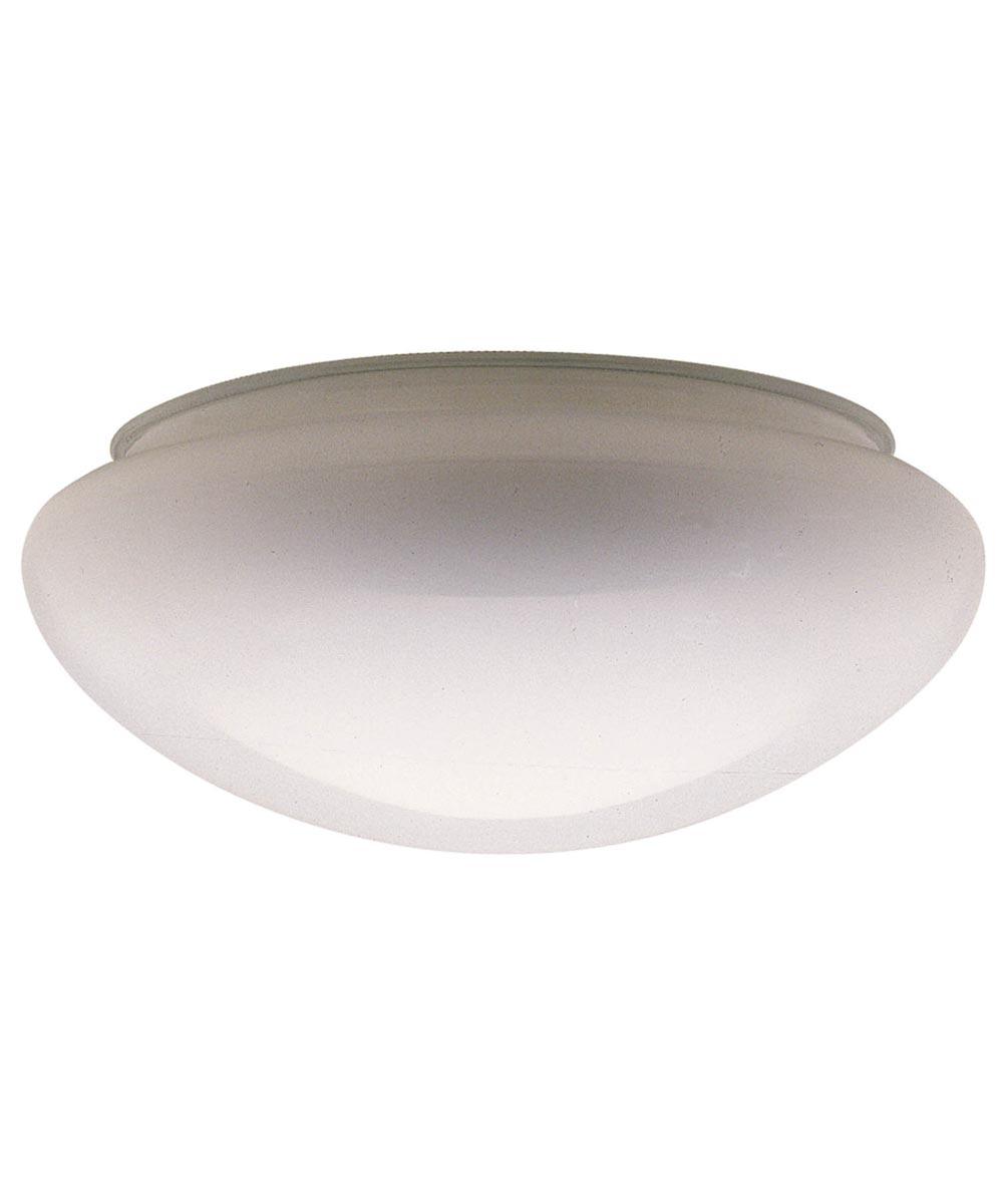 Westinghouse 6 in. Mushroom Glass Fitter, White