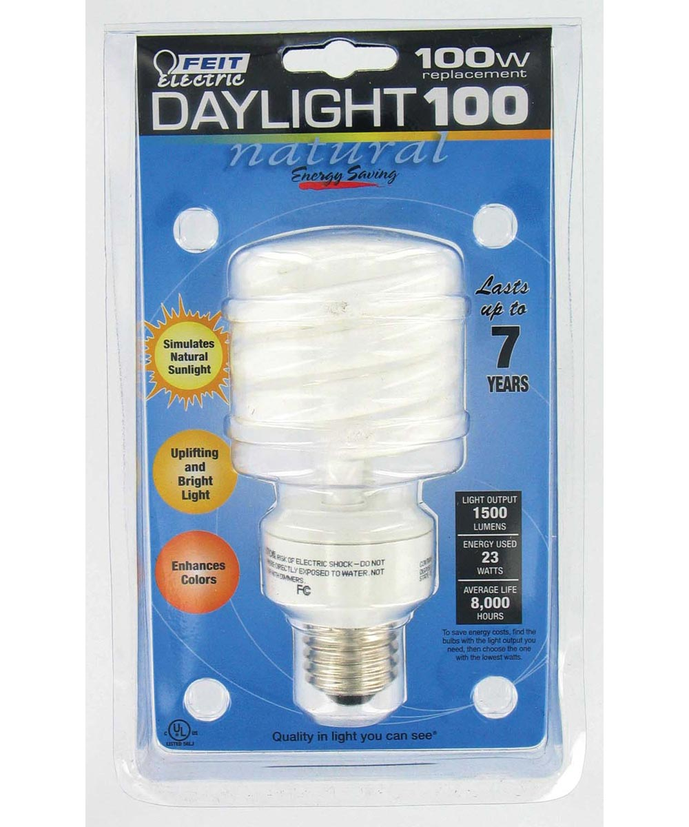 Feit Electric 23 Watt Daylight 100 CFL Spiral  Bulb