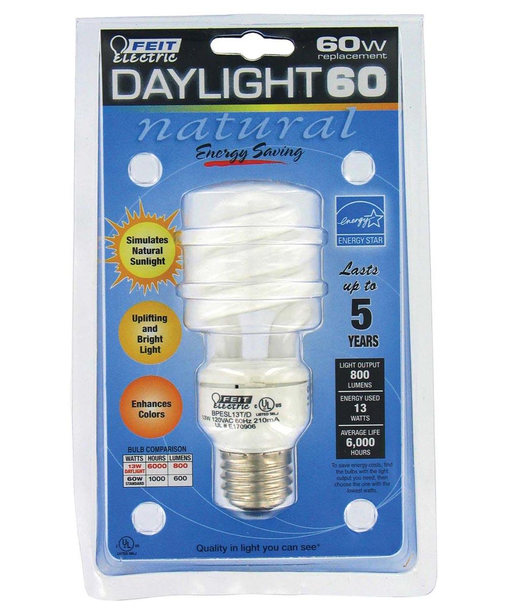 Feit Electric 13 Watt Daylight 60 CFL Sprial Bulb