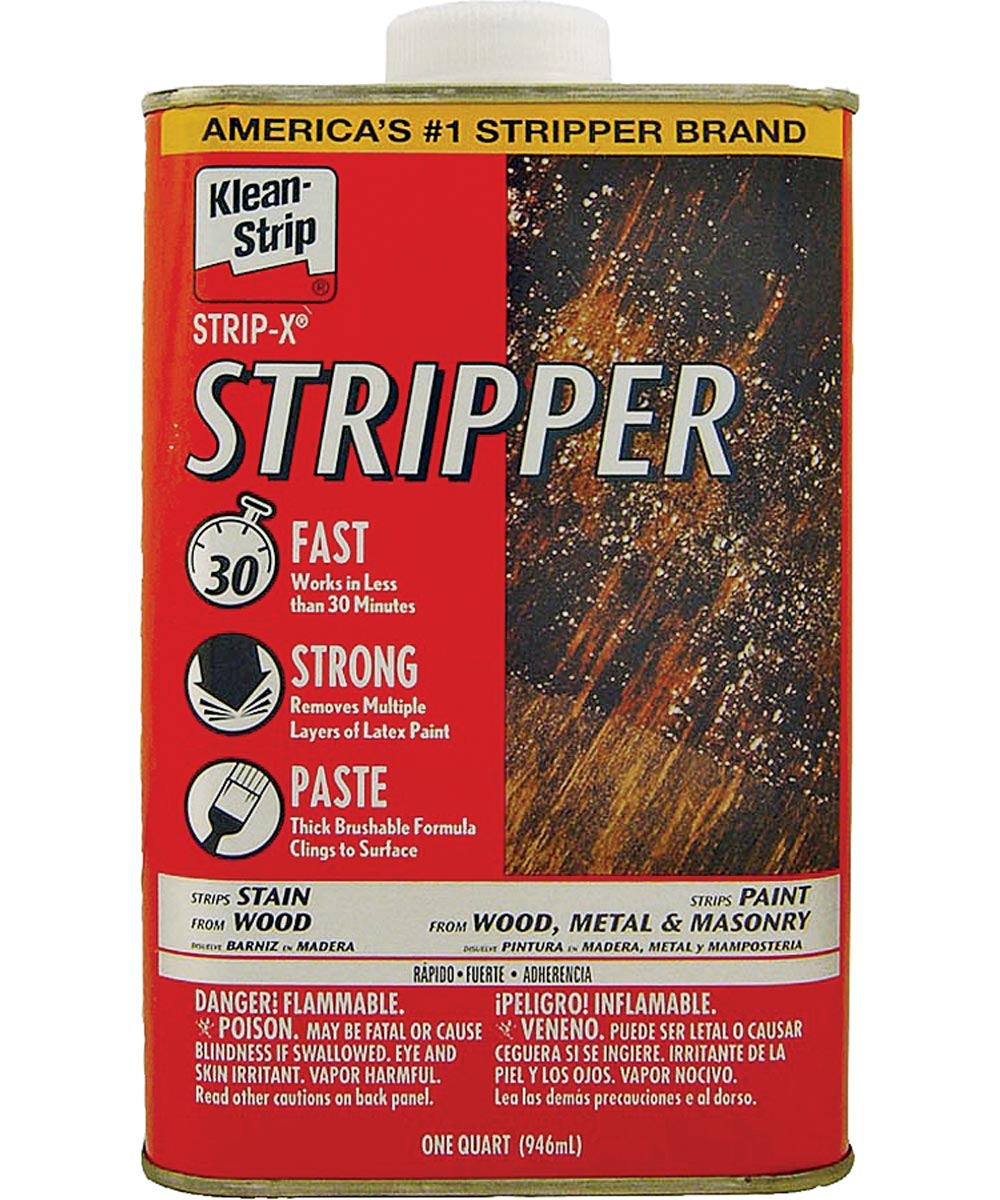 Klean-Strip Strip-X Paint Stripper, 1 qt, Can, Off-White, Viscous Liquid