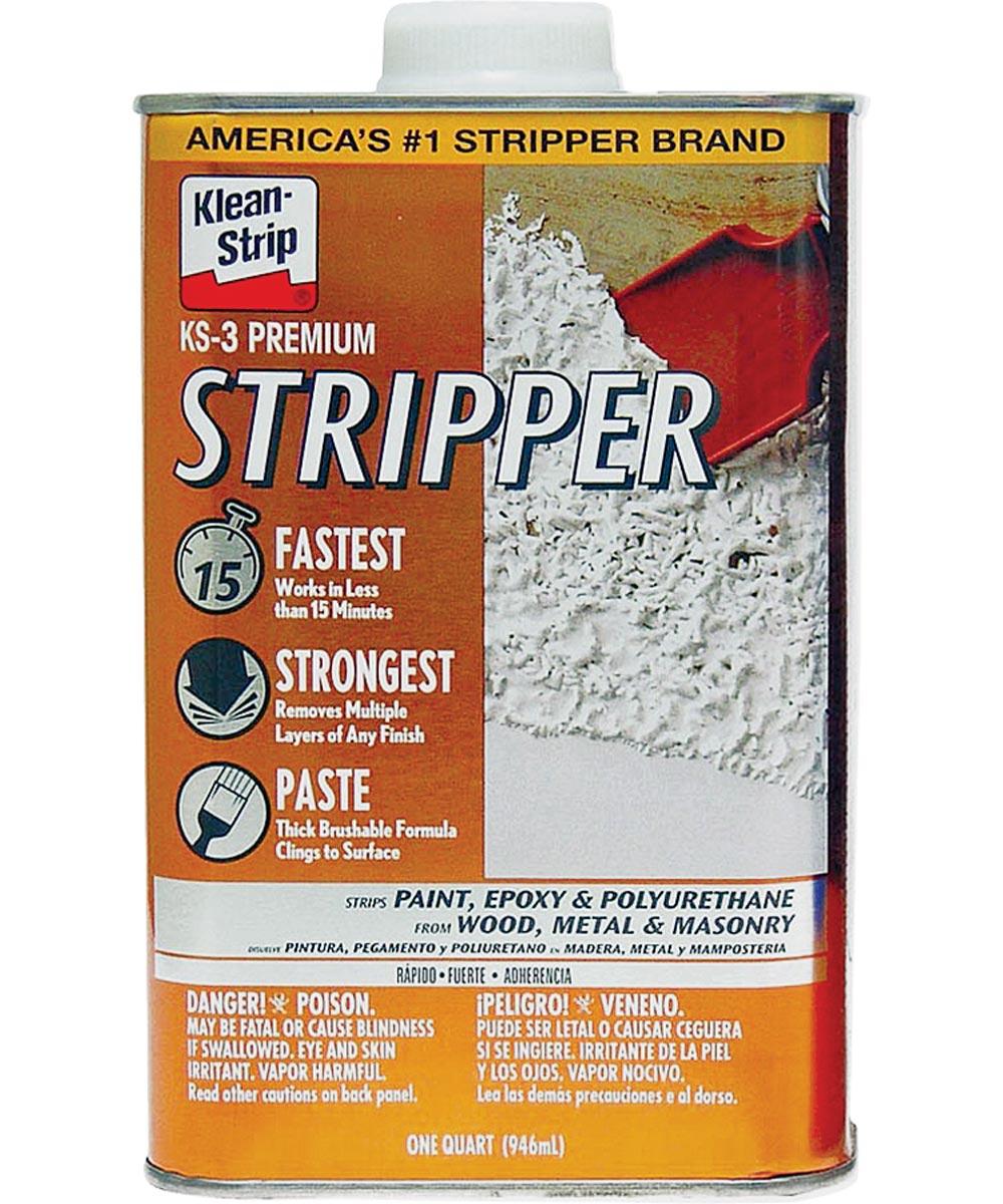 Klean-Strip Premium Paint Stripper, 1 qt Can, Opaque to Clear, Viscous Liquid