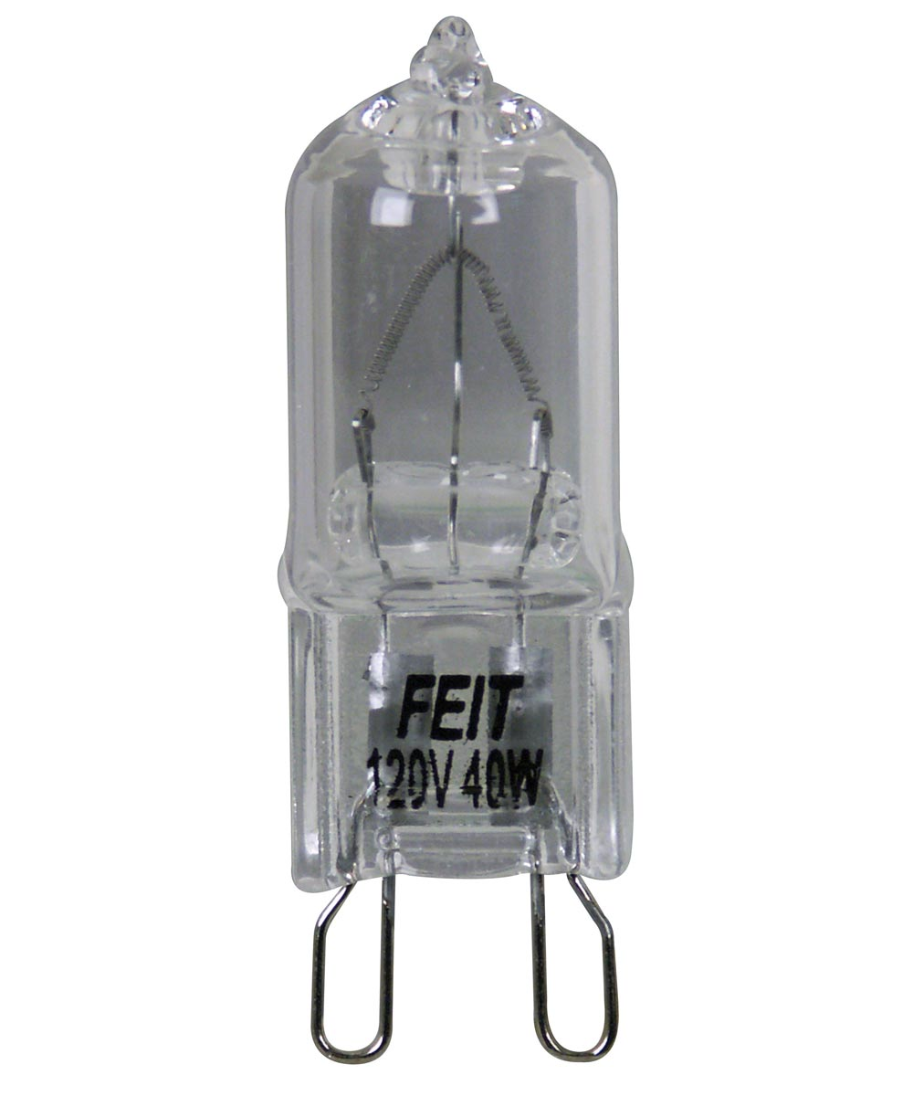 Feit Electric 40 Watt Halogen Clear G9 Base 120 Volt Bulb
