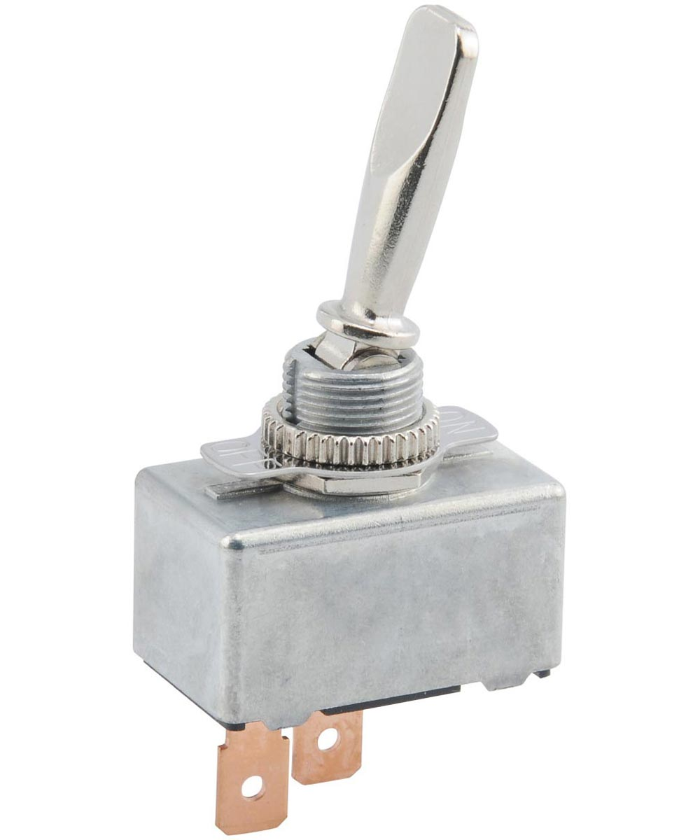 Chrome SPST On-Off Toggle Switch (50 Amp)