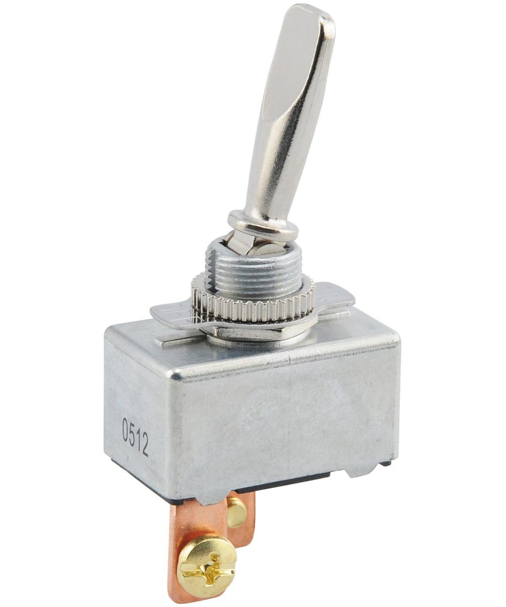 Chrome SPST On-Off Toggle Switch (50 Amp x 6-24V)