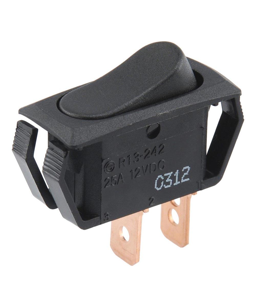 Black SPST On-Off Lighted Rocker Switch (25 Amp)