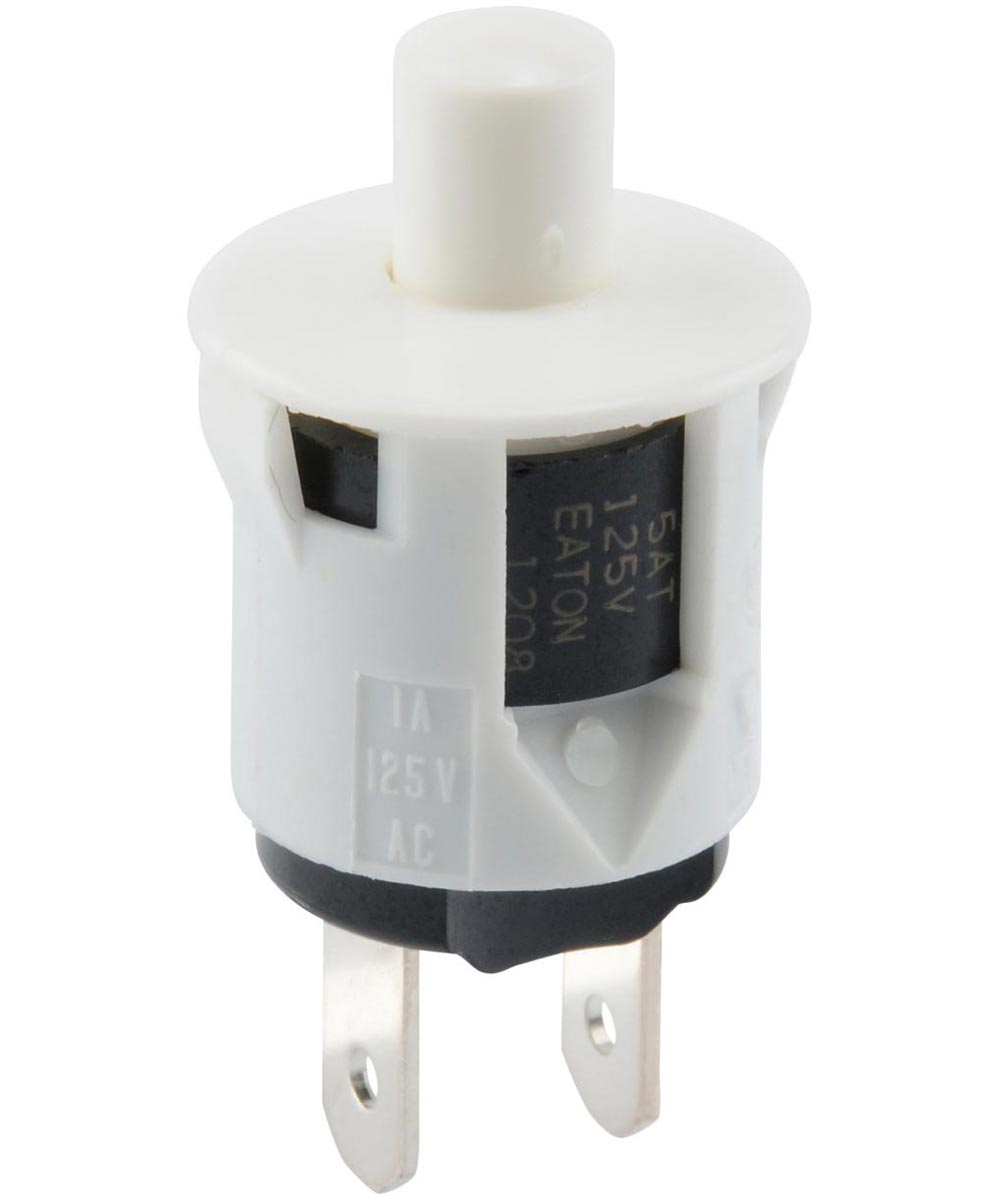 Normally On Quick Connect Terminal Momentary Switch (3/4 Amp-125 Volt x 1/4 Amp-250 Volt)