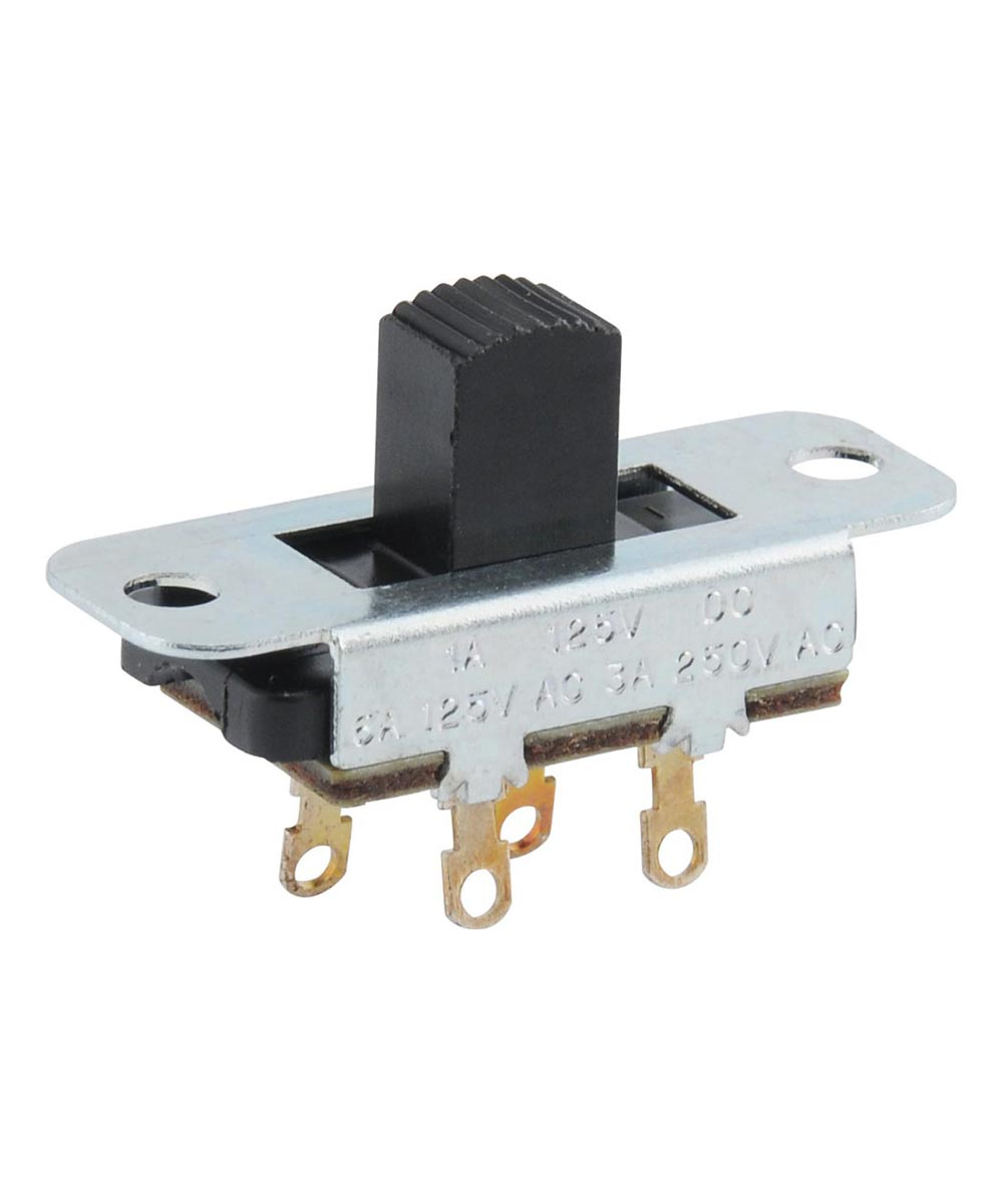 Center-Off & Off-Low-High 4-Terminal Slide Switch (6 Amp-125 Volt)