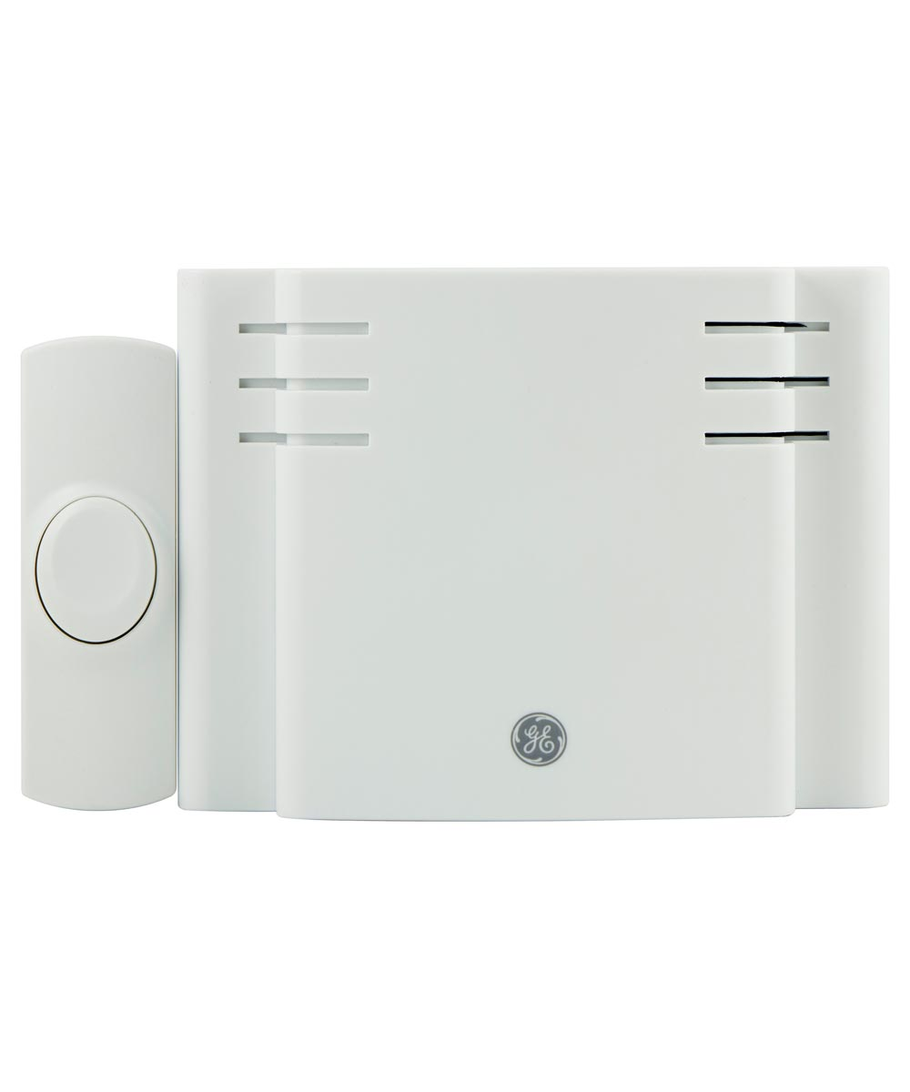 White Battery Operated Eight-Melody Wireless Door Chime