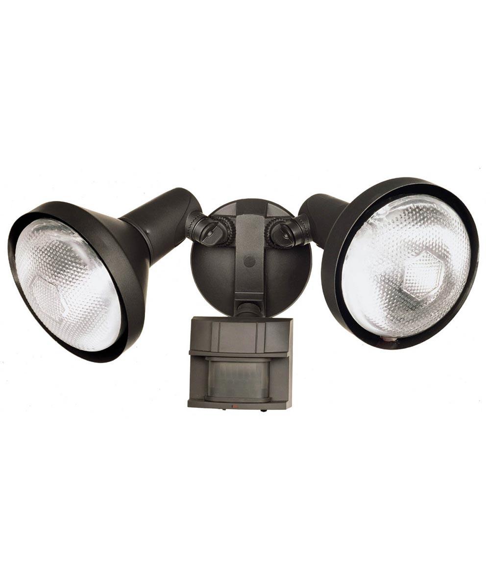 Heath Zenith 2 Lamp DualBrite 180 Degree Motion Security Flood Light, Bronze