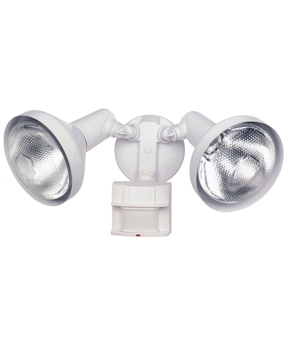 Heath Zenith 2 Lamp DualBrite 180 Degree Motion Security Flood Light, White