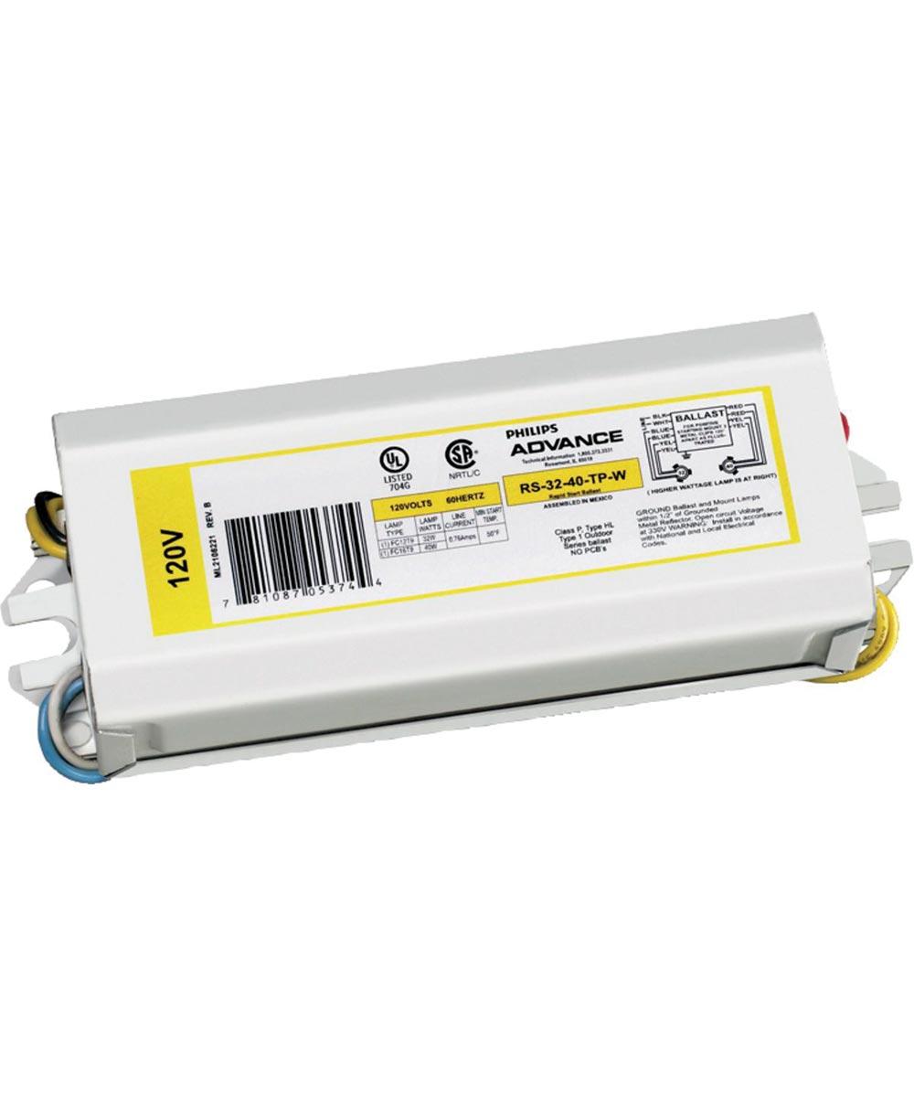 Magnetic Ballast, 32/40 W, 120 V, FC12T9 or FC16T9 Circline Fluorescent