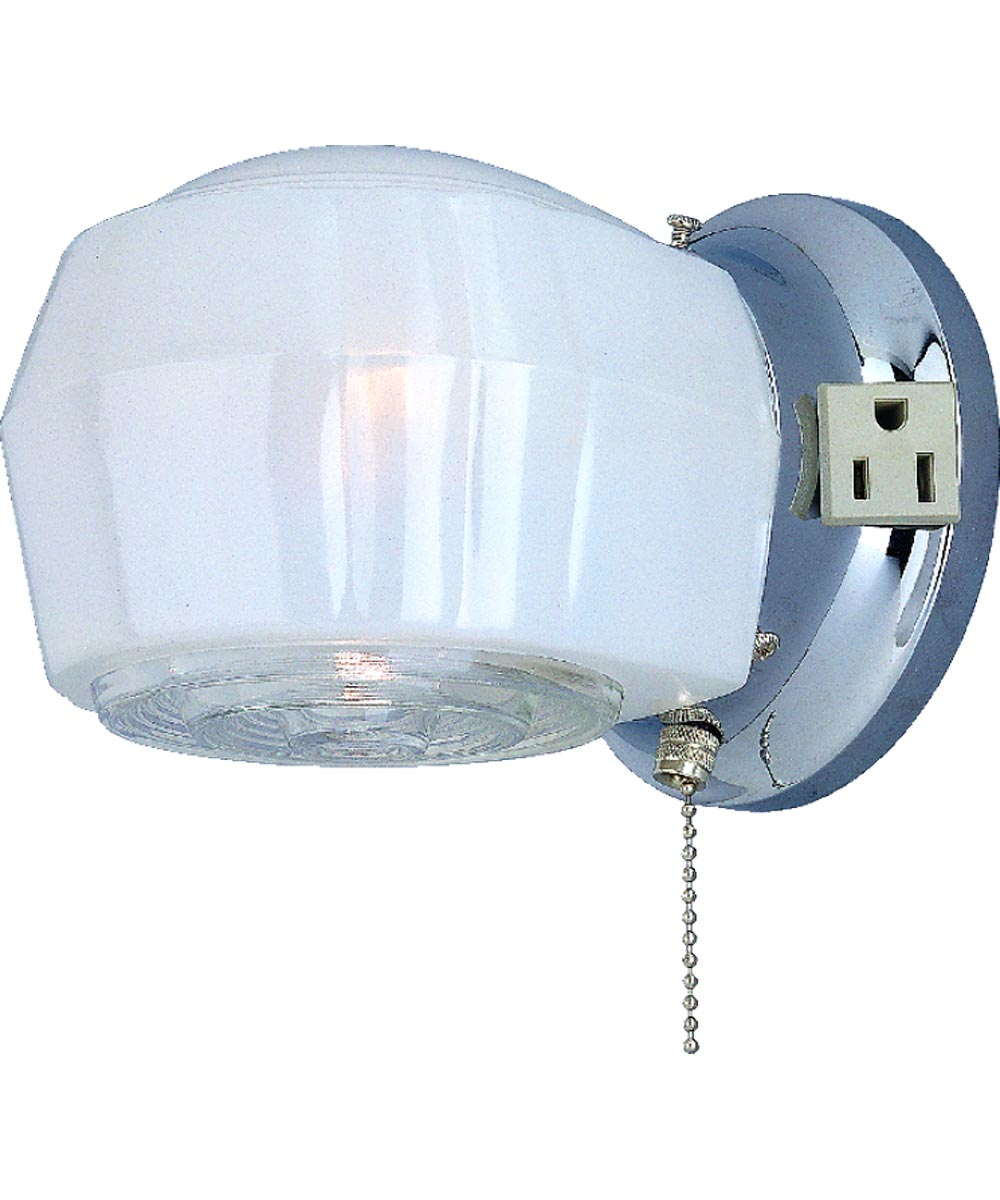 Boston Harbor Dimmable Wall Light Fixture with Pull Chain, Chrome