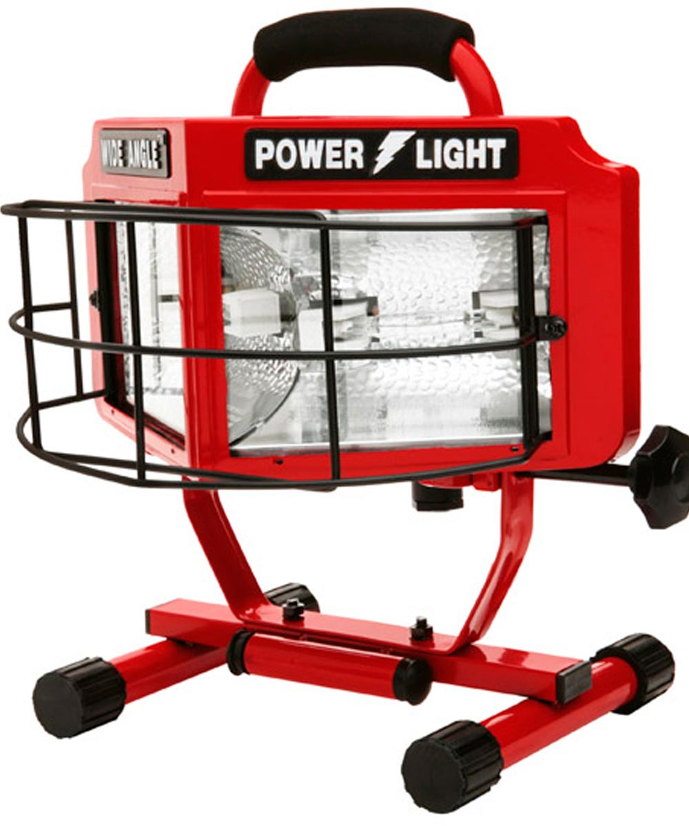 500W Red Wide Angle Double Halogen Bulb Portable Work Light