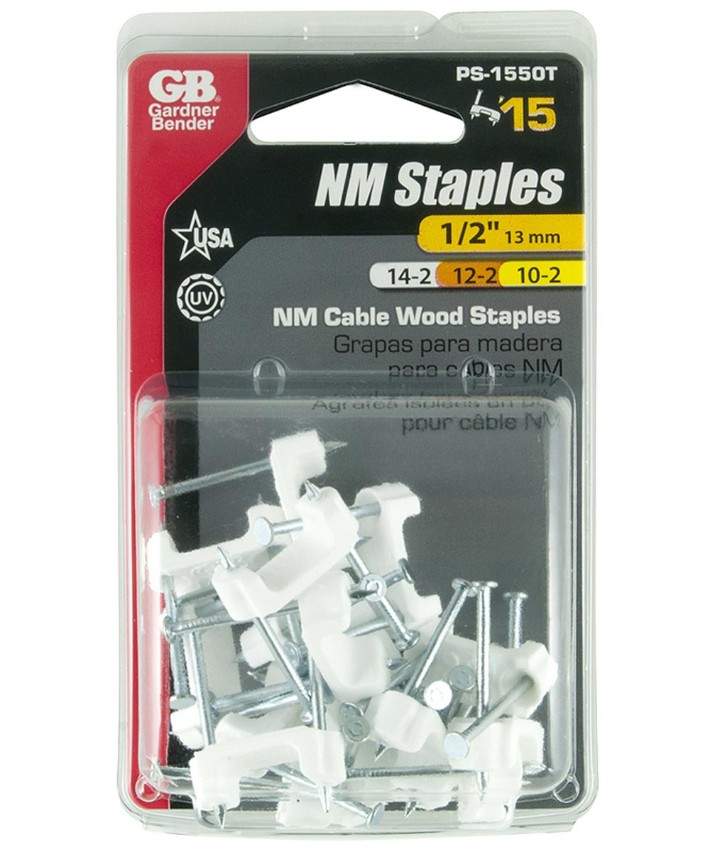 1/2 in. White Insulated Romex Staples 15 Count
