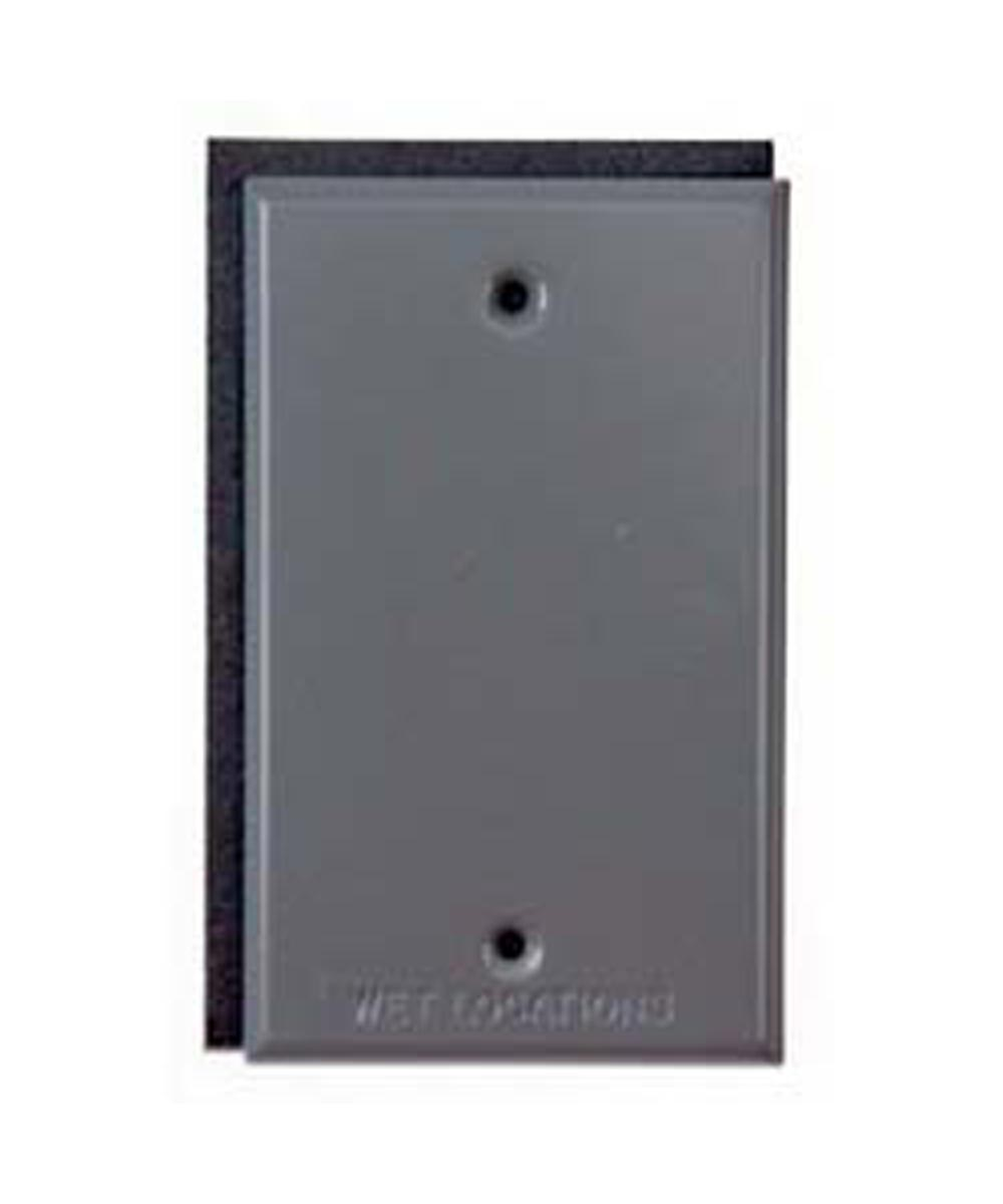 Gray Single Gang Blank Switch Plate Cover