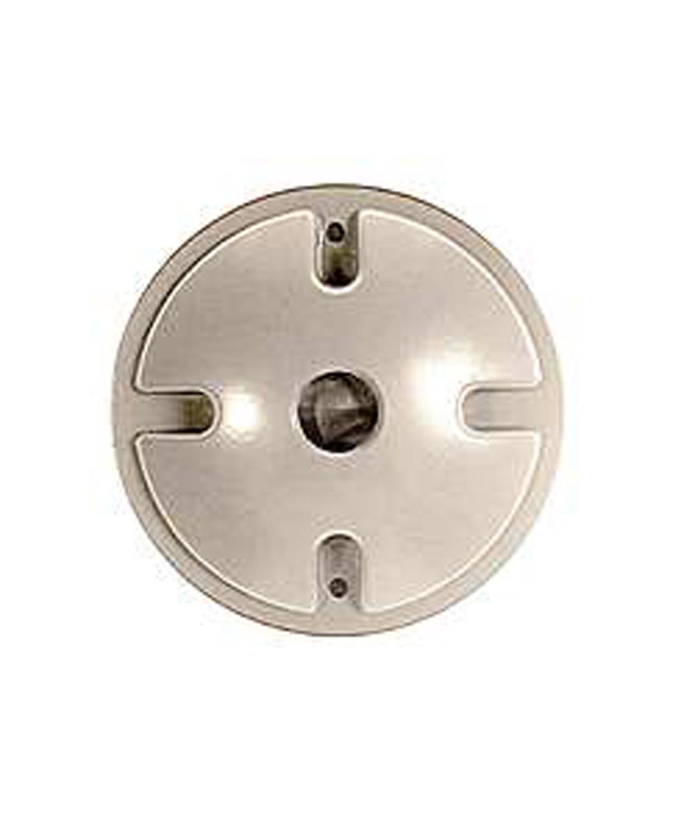 4 in. Gray Single Outlet Weatherproof Round Lampholder Covers