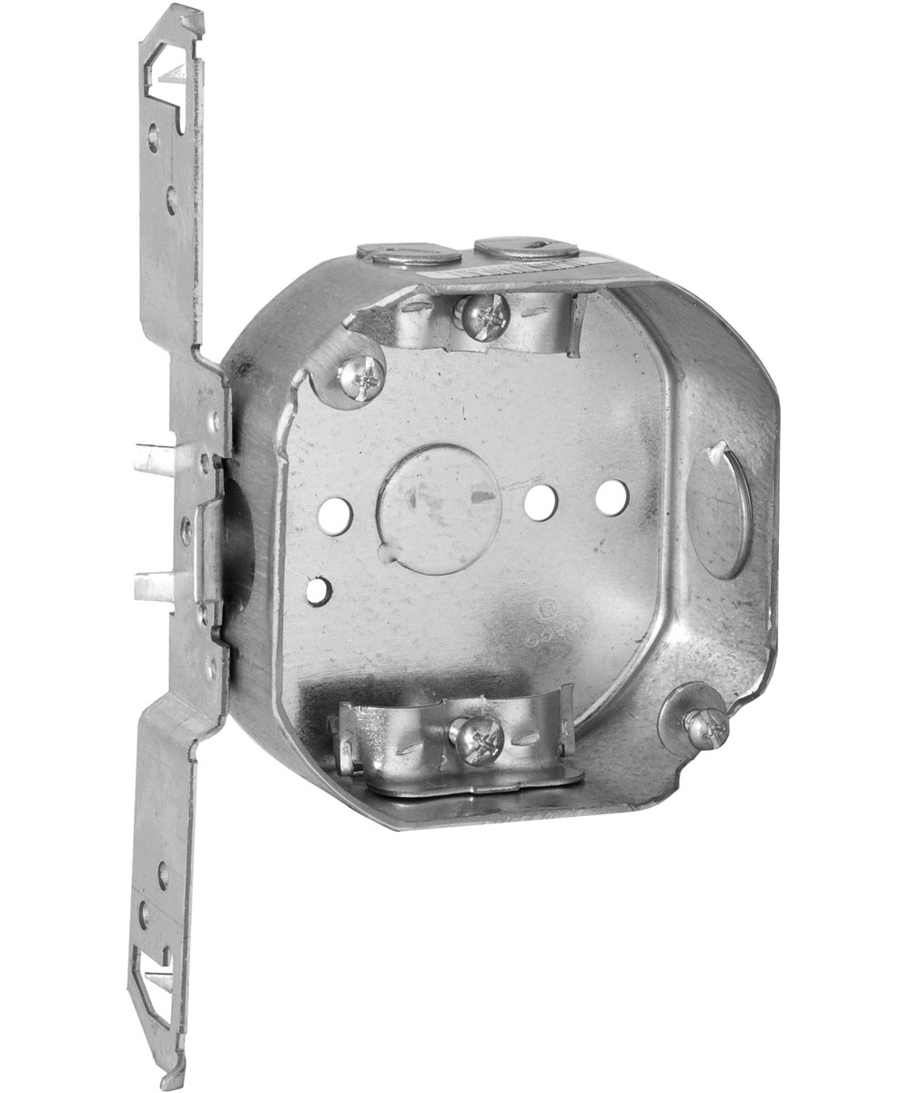4 In. Octagon Boxes, Non Metal Clamp Brackets