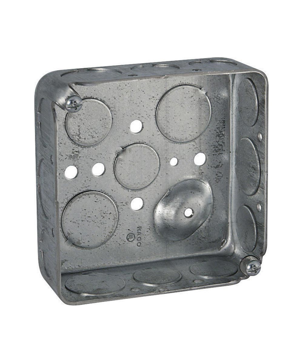 4 in. Square 1.5 in. Deep Drawn With Conduit Knock Outs Box