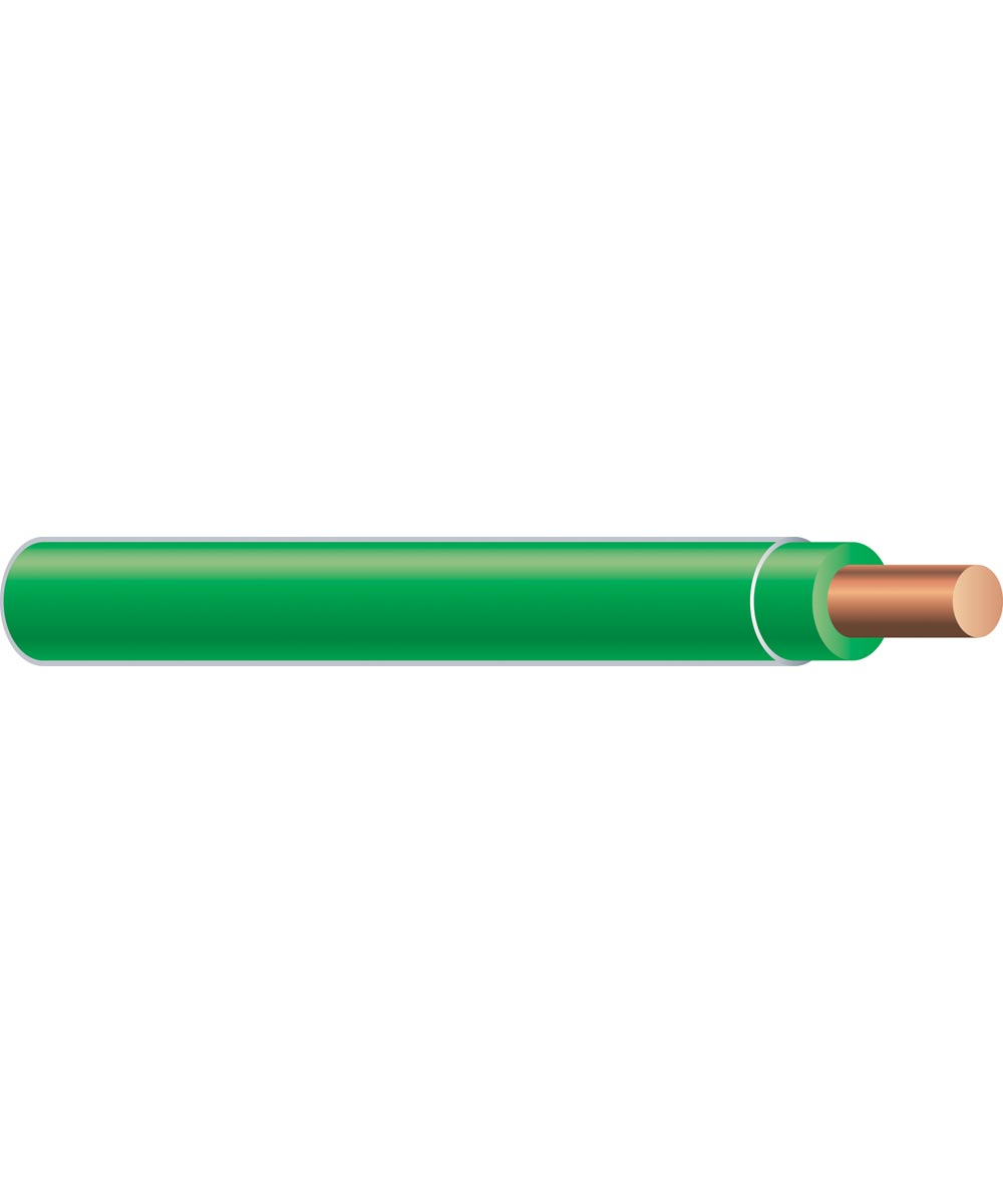 12 AWG Green Solid THHN Copper Conductor (Sold Per Foot)