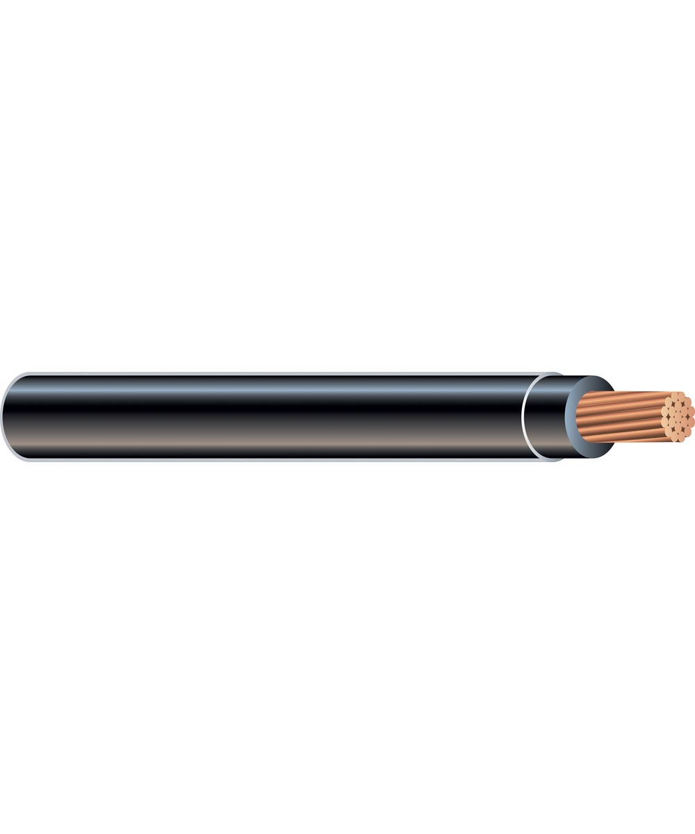 12 AWG Black Stranded THHN Copper Conductor (Sold Per Foot)