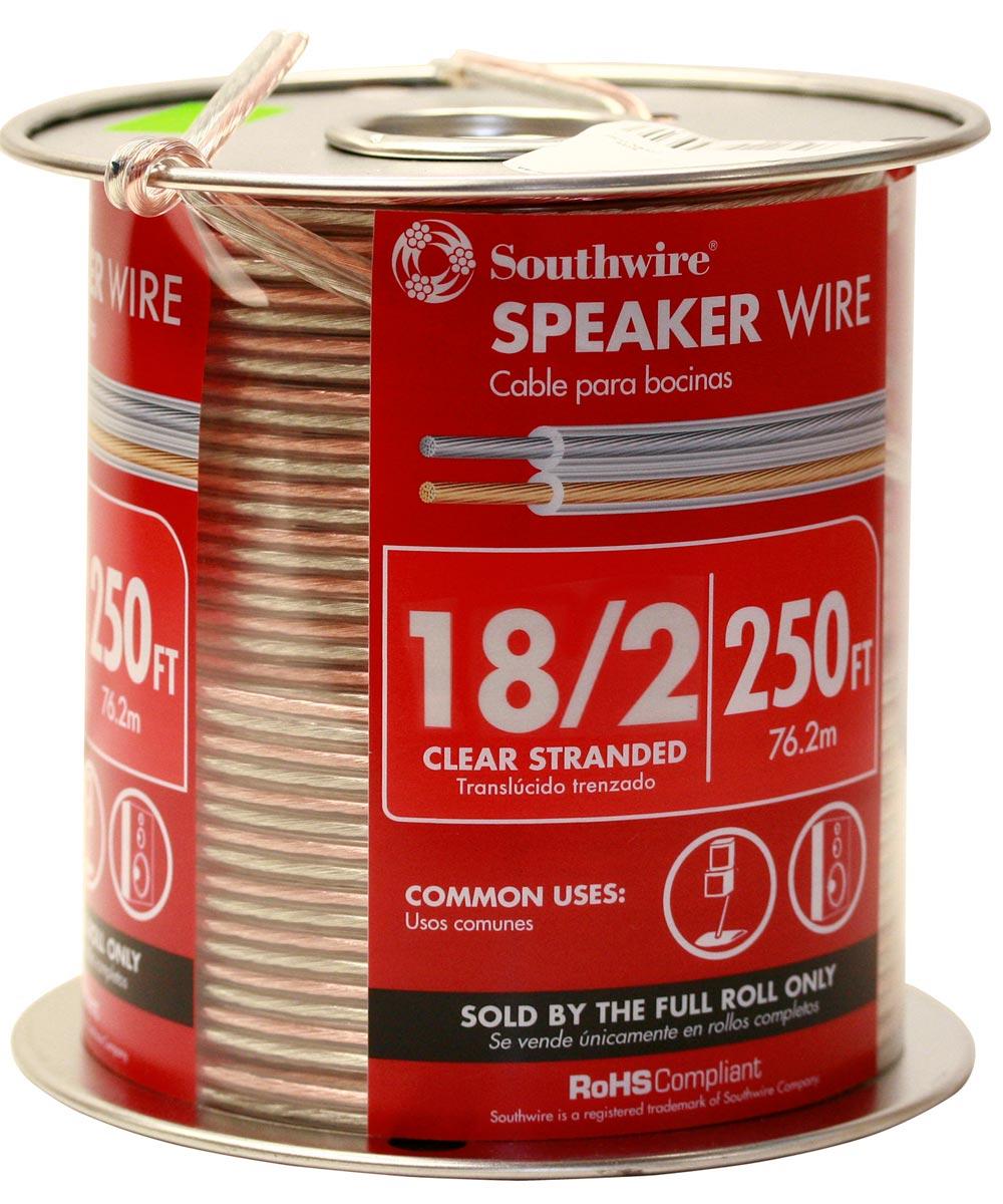 18/2 Clear Speaker Wire (Sold Per Foot)