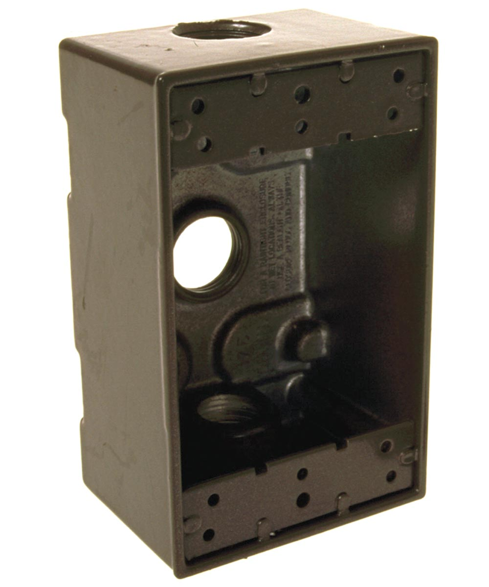 Bronze Single Gang Weatherproof Box