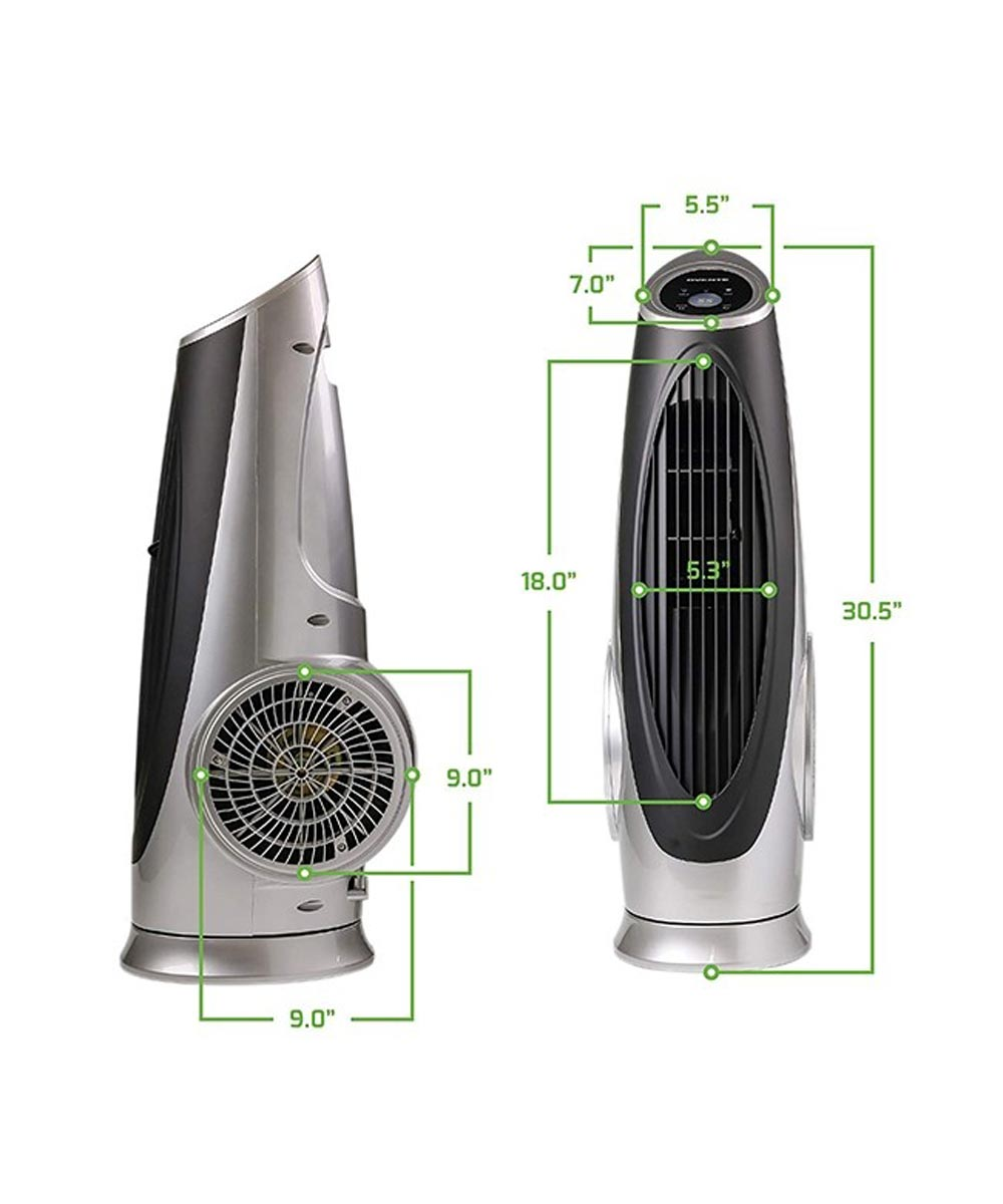 3 Speed Tower Fan with LCD Panel & Remote Control