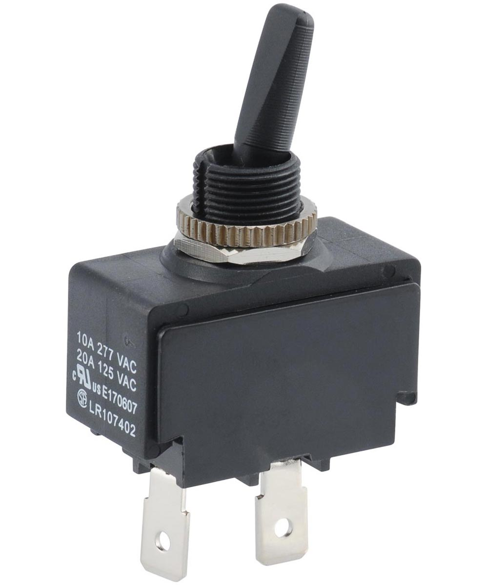 Double Insulated Toggle Switch (20 Amp-125 Volt x 10 Amp-277 Volt)