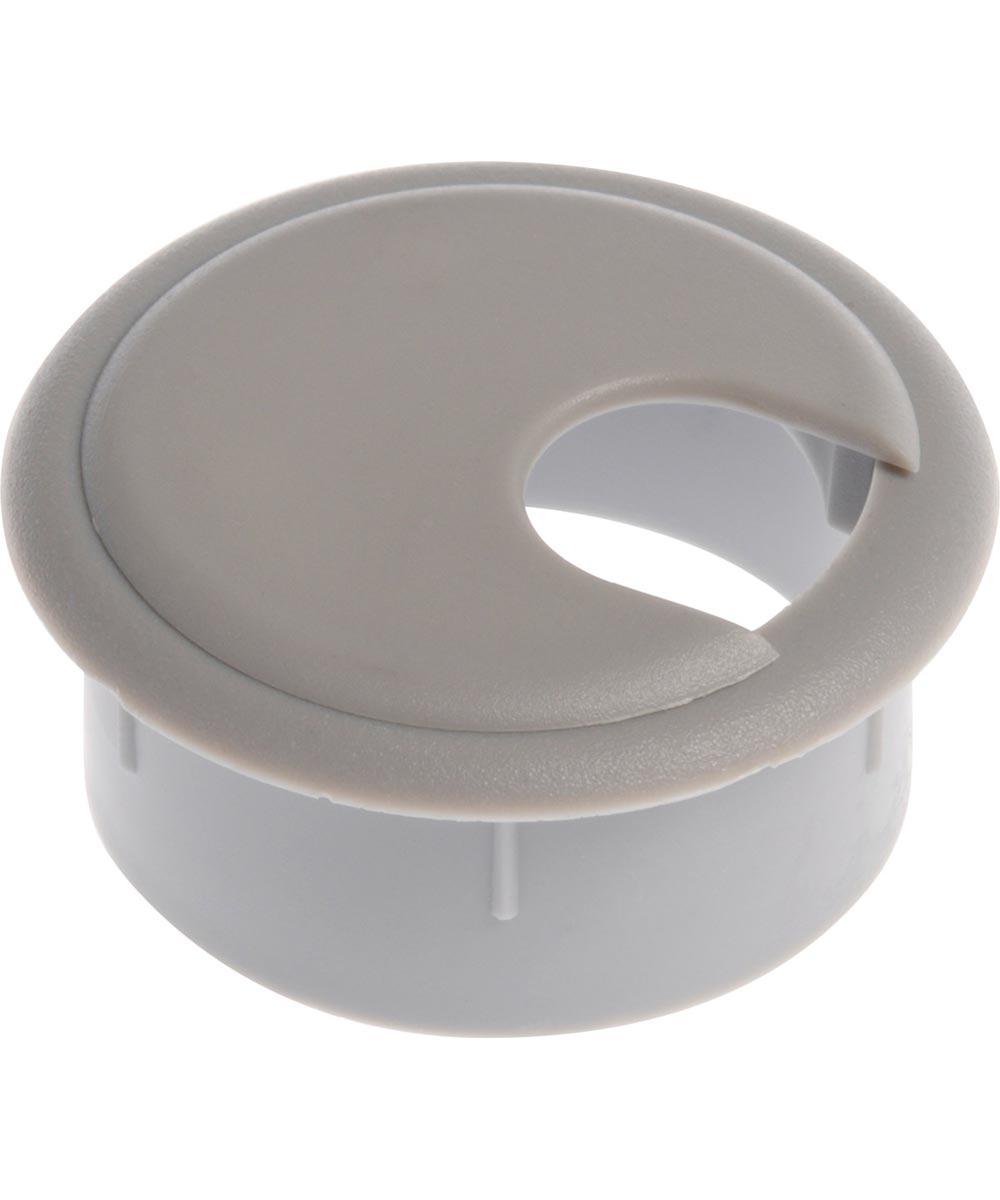 Deep Drawer Gray Computer Grommet (2-1/2 in.)