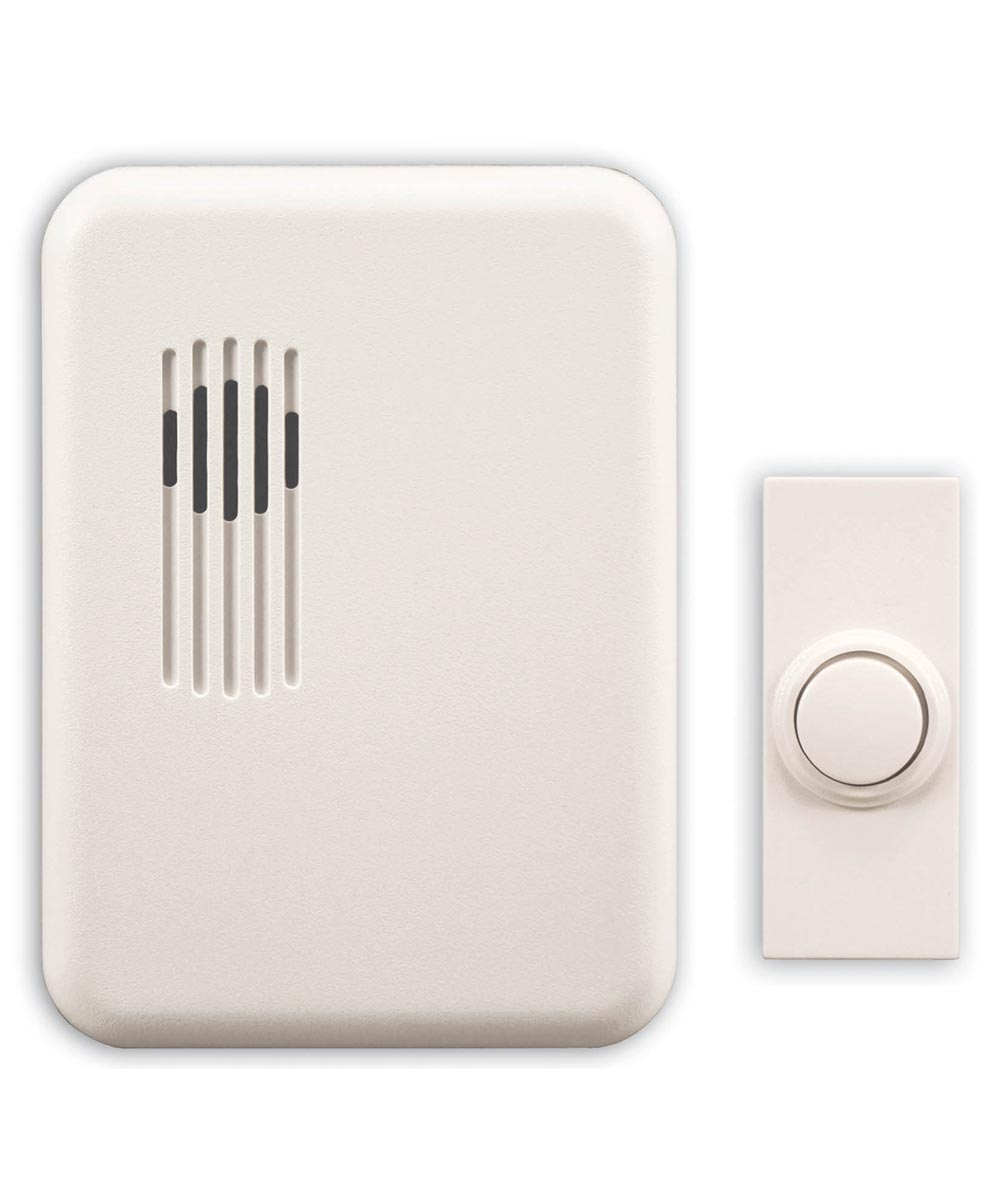 White Wireless Rectangular Doorbell Chime Kit