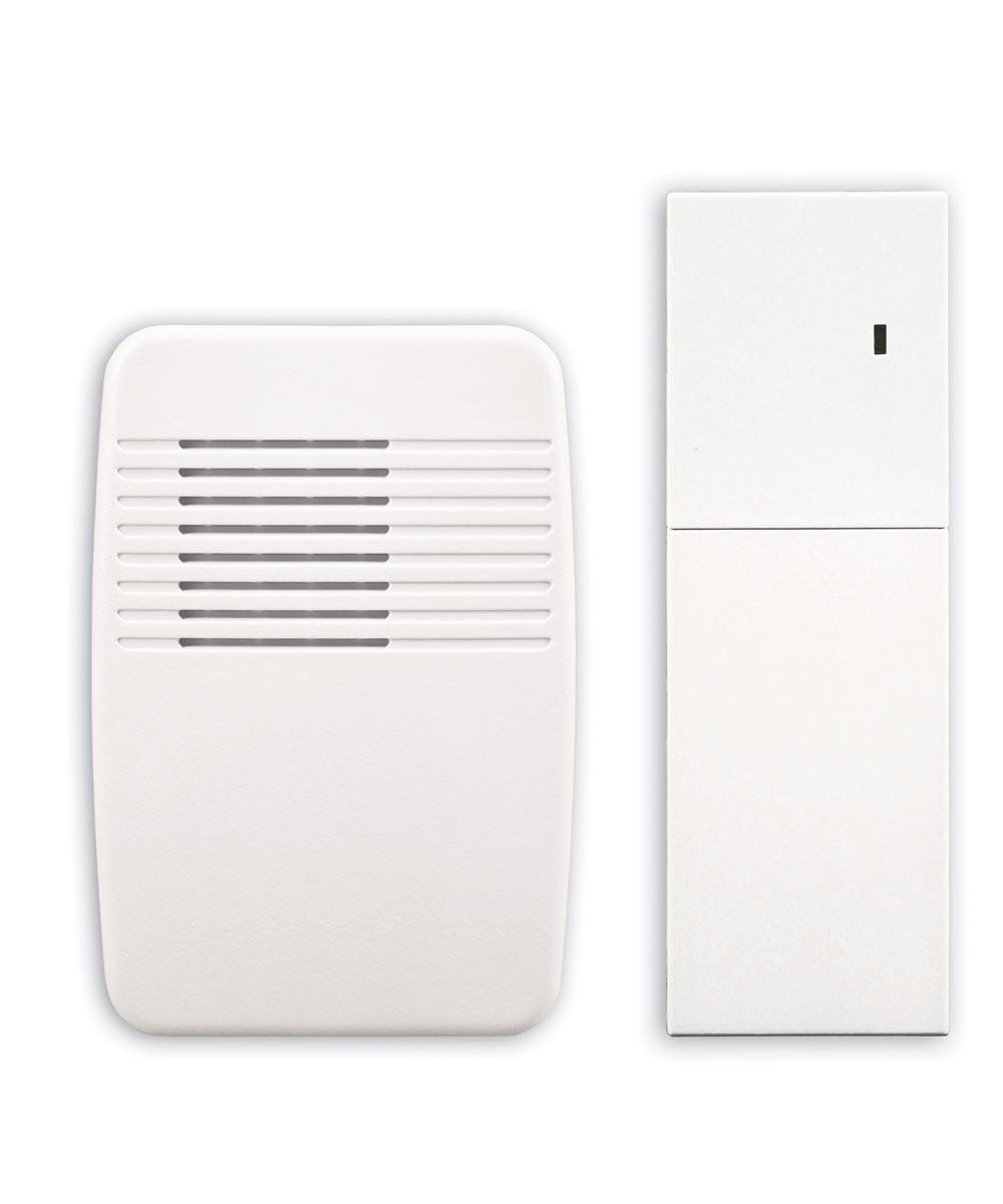 White Wireless Plug-In Door Chime Extender