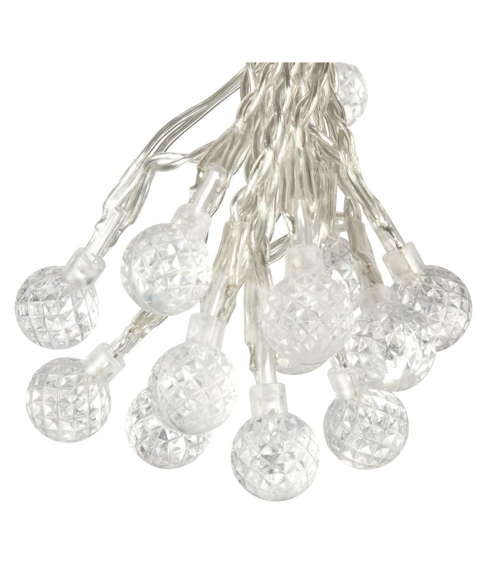 50 LED Solar Strawberry Bubble Outdoor String Lights