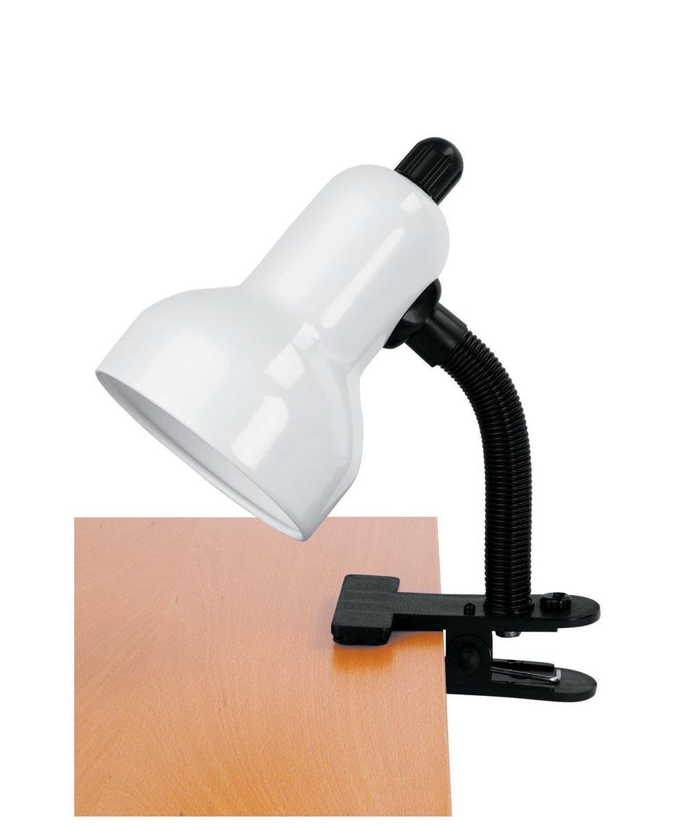 Clip-On Gooseneck Lamp, White