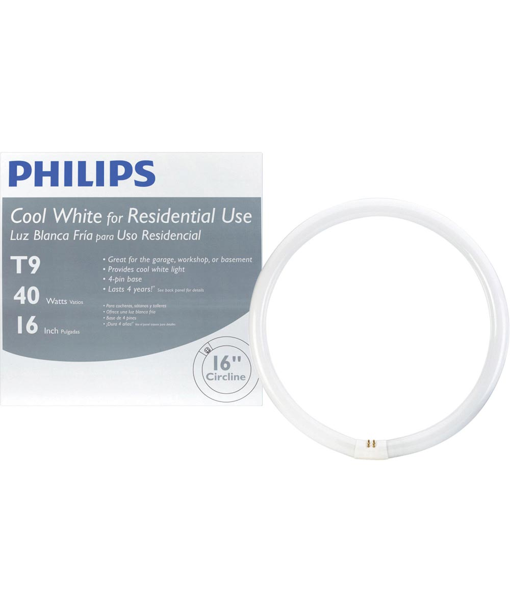 16 inch 40-Watt T9 Cool White Circline Fluorescent Light Bulb