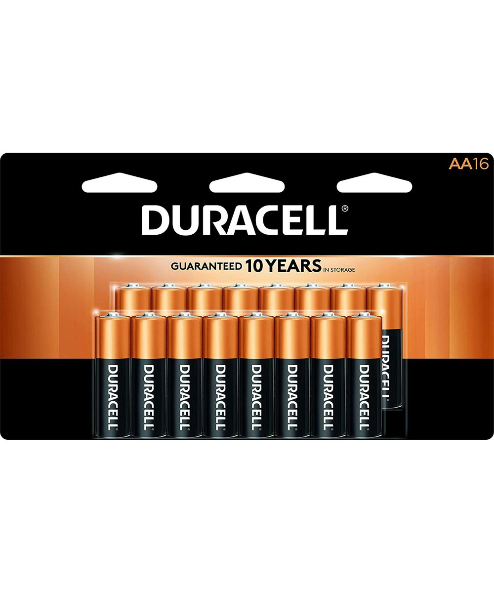 Duracell CopperTop AA Alkaline Battery, 16 Pack
